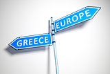 Greece Europe Road Sign
