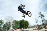 BMX Rider Jumping