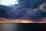 Sunset Over a Cloudy Atlantic