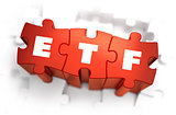 ETF - Text on Red Puzzles.