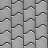 Grey Paving Slabs of the Wavy Form.