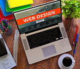 Web Design. Office Working Concept.