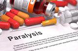 Diagnosis - Paralysis. Medical Concept.