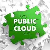 Public Cloud on Green Puzzle.