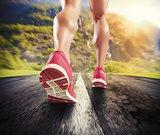 Running on asphalt