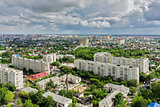 Top view on the panorama of city. Tyumen. Russia