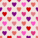 Scribbled heart pattern design