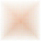 Orange dot with white background