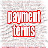 Payment terms word cloud