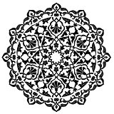 black artistic ottoman pattern series ninety one