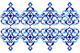 designed with shades of blue ottoman pattern series three versio