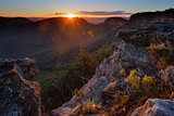 Sunrays at Sunset Rock Mt Victoria