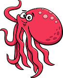 cute octopus cartoon illustration