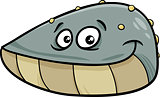 mussel mollusk cartoon illustration