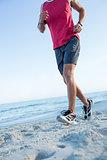 Fit man doing jogging