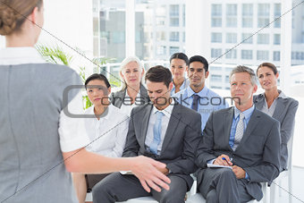 Business people listening during meting