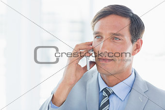 Business man having phone call