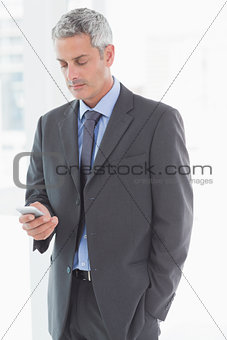 Business man using smartphone