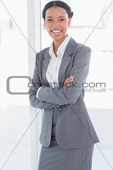 Beautiful businesswoman in office