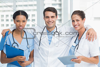 Portrait of doctors with arms crossed