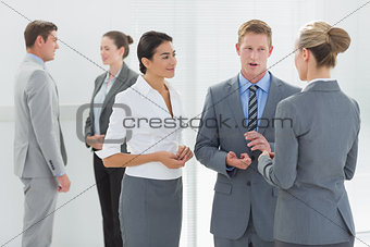 Business people interacting