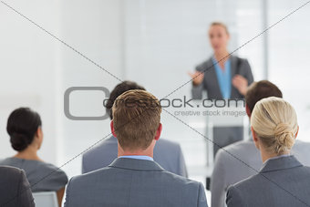 Business team during conference