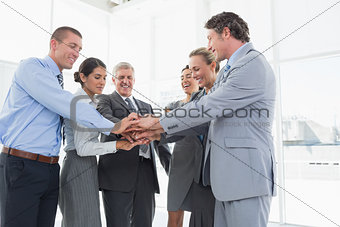 Business team celebrating a good job
