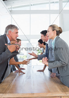 Business team discussing together