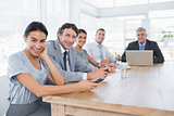 Smiling business team on a meeting