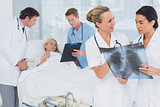 Doctors discussing about patients file