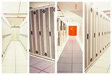 Composite image of data center