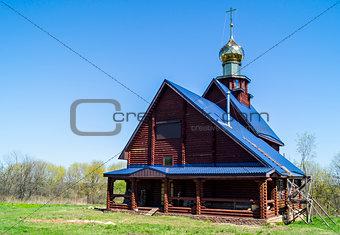 Church Kazanskoy icons Bozhiey Full-grown in Naleskino,Russia