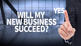 Composite image of mid section of businessman pointing something up