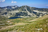 Panoramic view towards Vlahini Lakes, Pirin Mountain