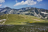 The path for climbing Mount Vihren, Pirin Mountain