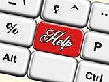 contact, help, web button
