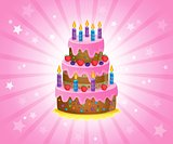 Birthday cake theme image 2