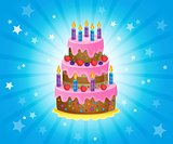 Birthday cake theme image 3