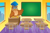 Classroom with owl teacher