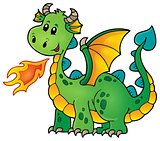Green happy dragon