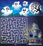 Maze 3 with ghosts and haunted house