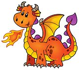 Orange happy dragon