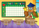 School timetable classroom theme 1