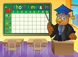 School timetable classroom theme 2