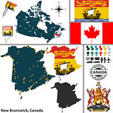 Map of New Brunswick, Canada
