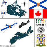 Map of Nova Scotia, Canada