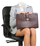Woman body sitting in chair
