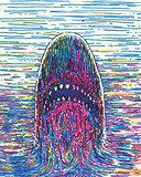 Vector Drawing Marker Shark