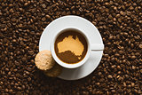 Still life - coffee with map of Australia