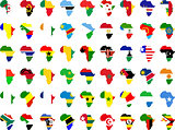 african flags and continent
